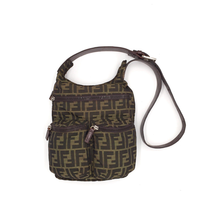 Authentic Vintage Fendi Zucca Crossbody Bag Etsy Crossbody Bag Vintage Dior Bags