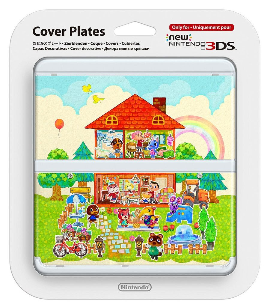 New nintendo 3ds cover plates animal crossing happy home - Animal crossing happy home designer 3ds case ...