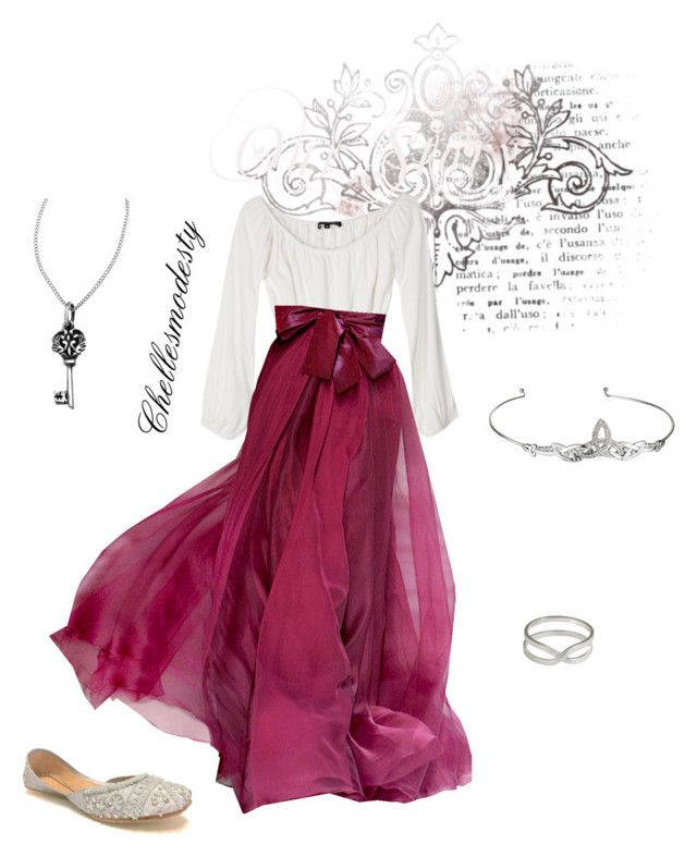 """""""Fancy!"""" by chellesmodesty ❤ liked on Polyvore featuring For Love & Lemons, Elie Saab, Femme Metale, TIARA and NOVICA"""