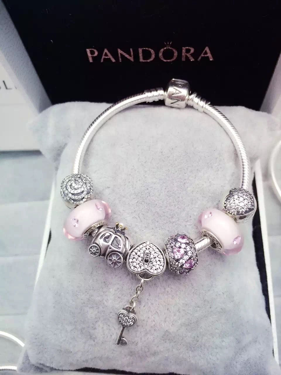 8591805b4 $199 Pandora Charm Bracelet Pink. Hot Sale!!! SKU: CB01584 - PANDORA  Bracelet Ideas