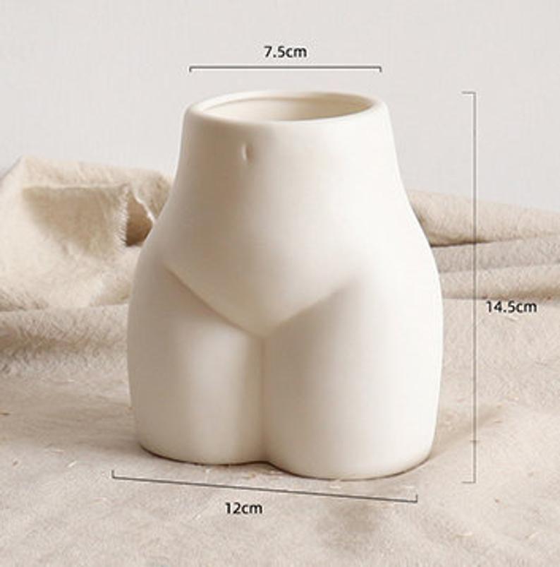 Lady Body Art Vase Nordic Vasemodern Home Decorwhite Ceramic Etsy In 2020 Flower Vase Gift Handmade Ceramics Vase Handmade Ceramics