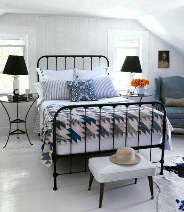 Lit en fer forg pour votre chambre de r ve lit en fer lampes et lits - Lit adulte fer forge ...