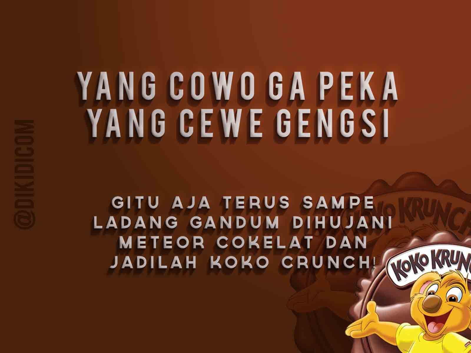 Yang Cowo Ga Peka Yang Cewe Gengsi Meme Indonesia Pinterest