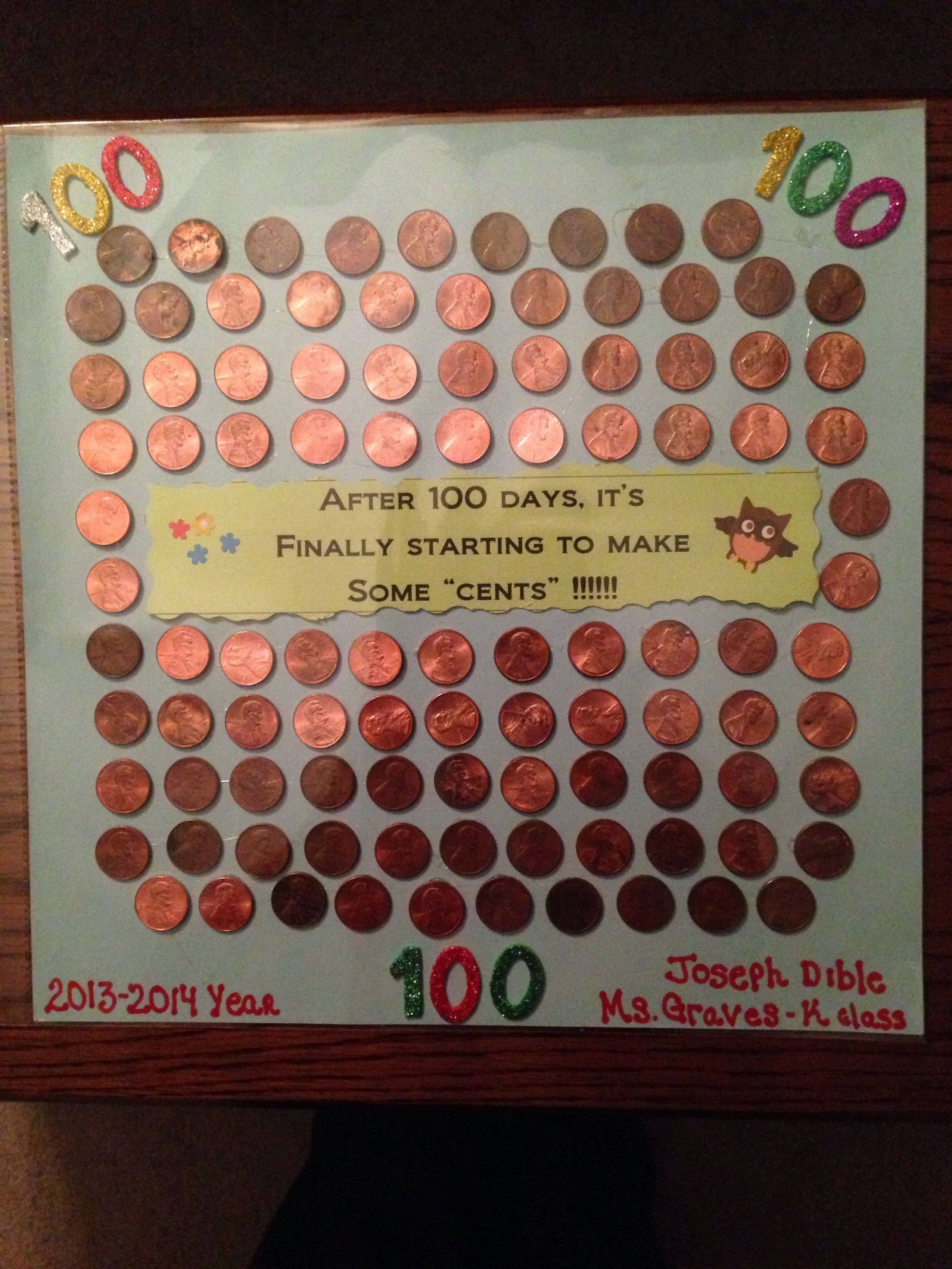 100th Day Of School Diy Project