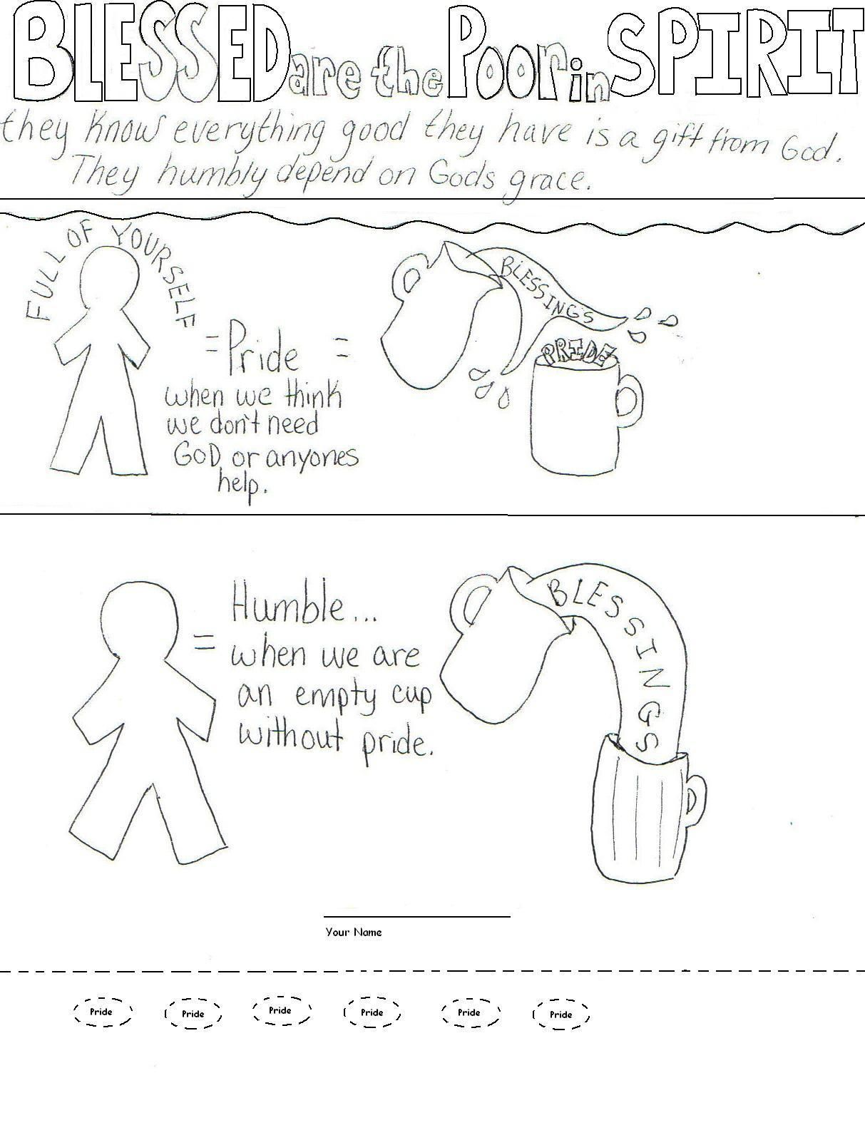 Coloring pages beatitudes - Blessed Are The Poor In Spirit I Love This Depiction It Really