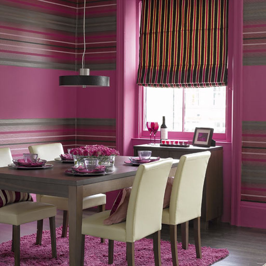 colorful dining room design! would you be this bold with your