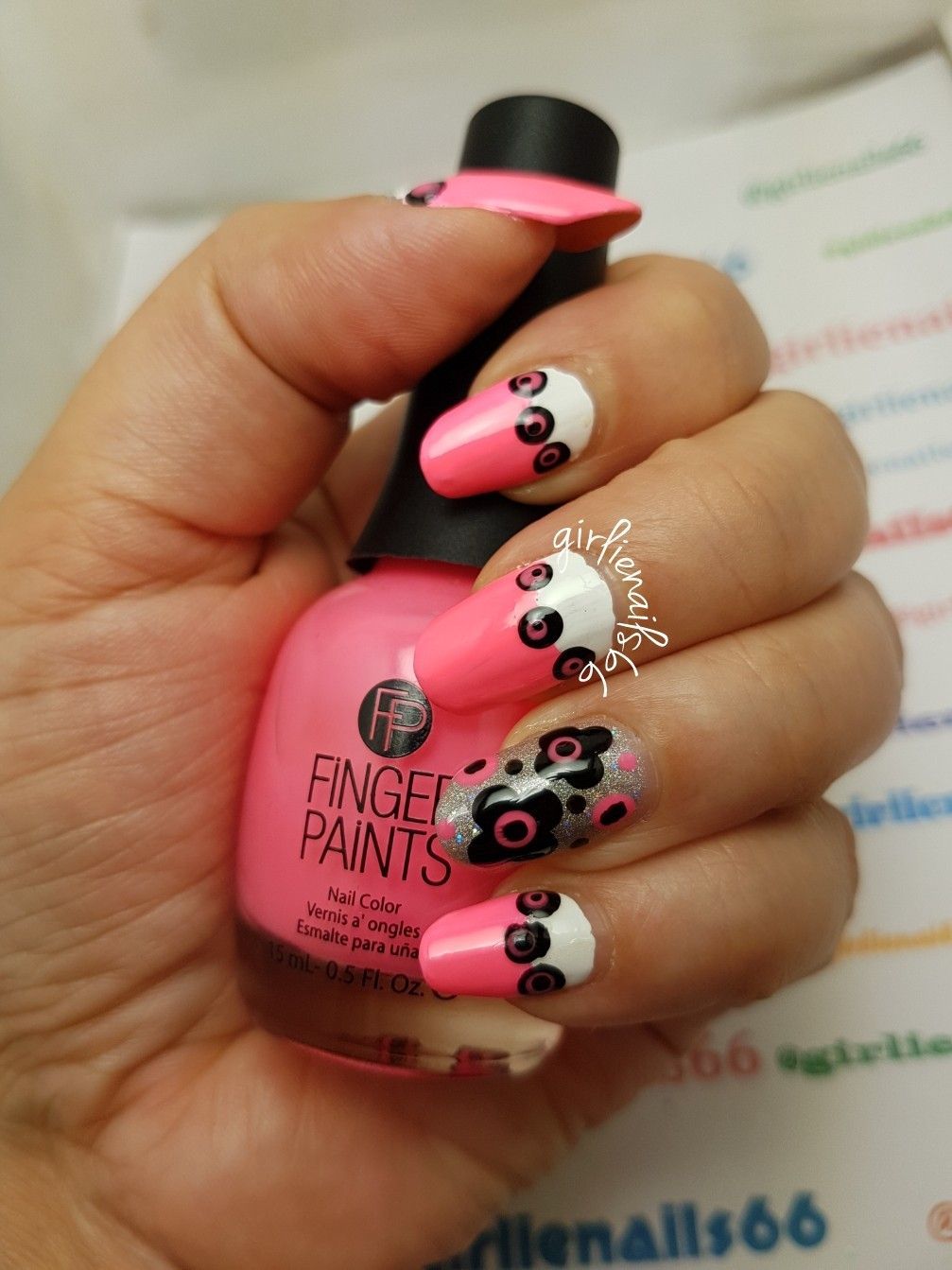 Pink White Flower Nails Nail Designs By Girlienails66