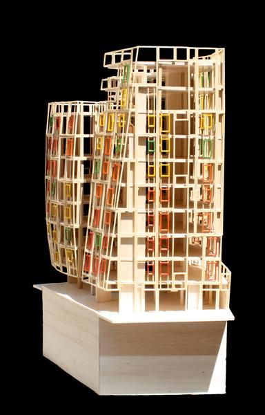 edificio de viviendas en torre bar josep mi s architecture models pinterest maquettes. Black Bedroom Furniture Sets. Home Design Ideas