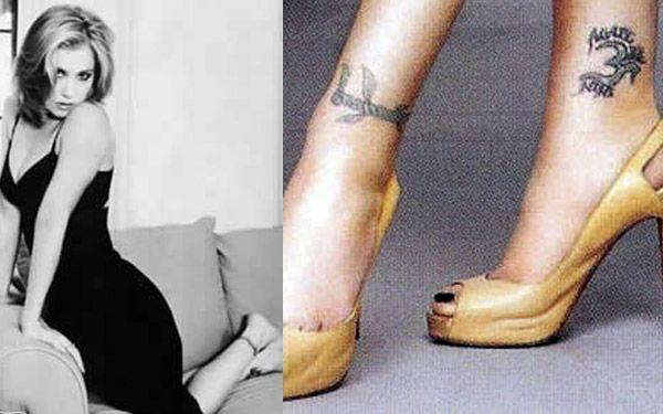 Christina Applegate Ankle Tattoos Celebrity Tattoos Celebrity Tattoos Women Hottest Female Celebrities