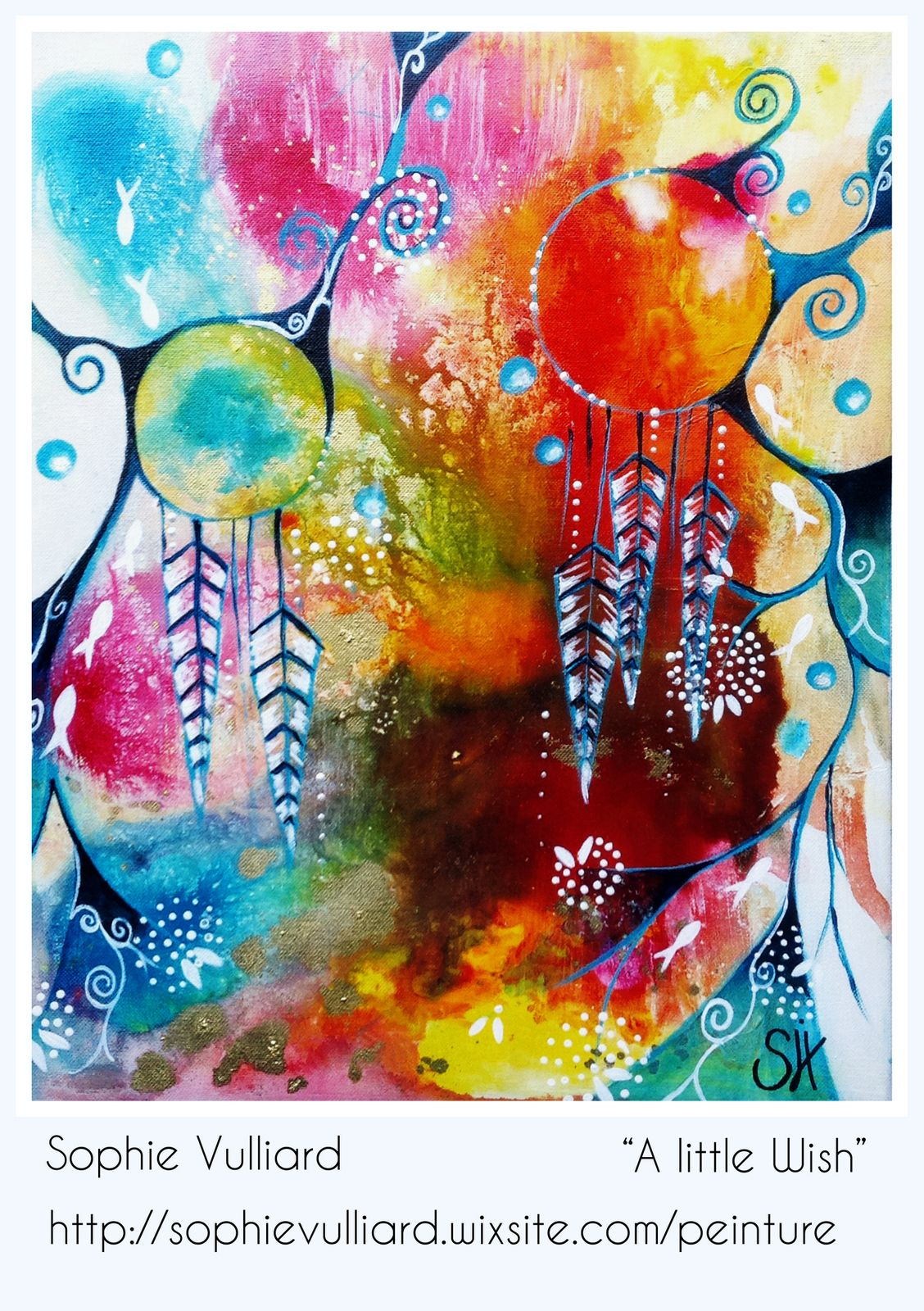 By Sophie Vulliard Intuitive Painting Peinture Intuitive Peinture