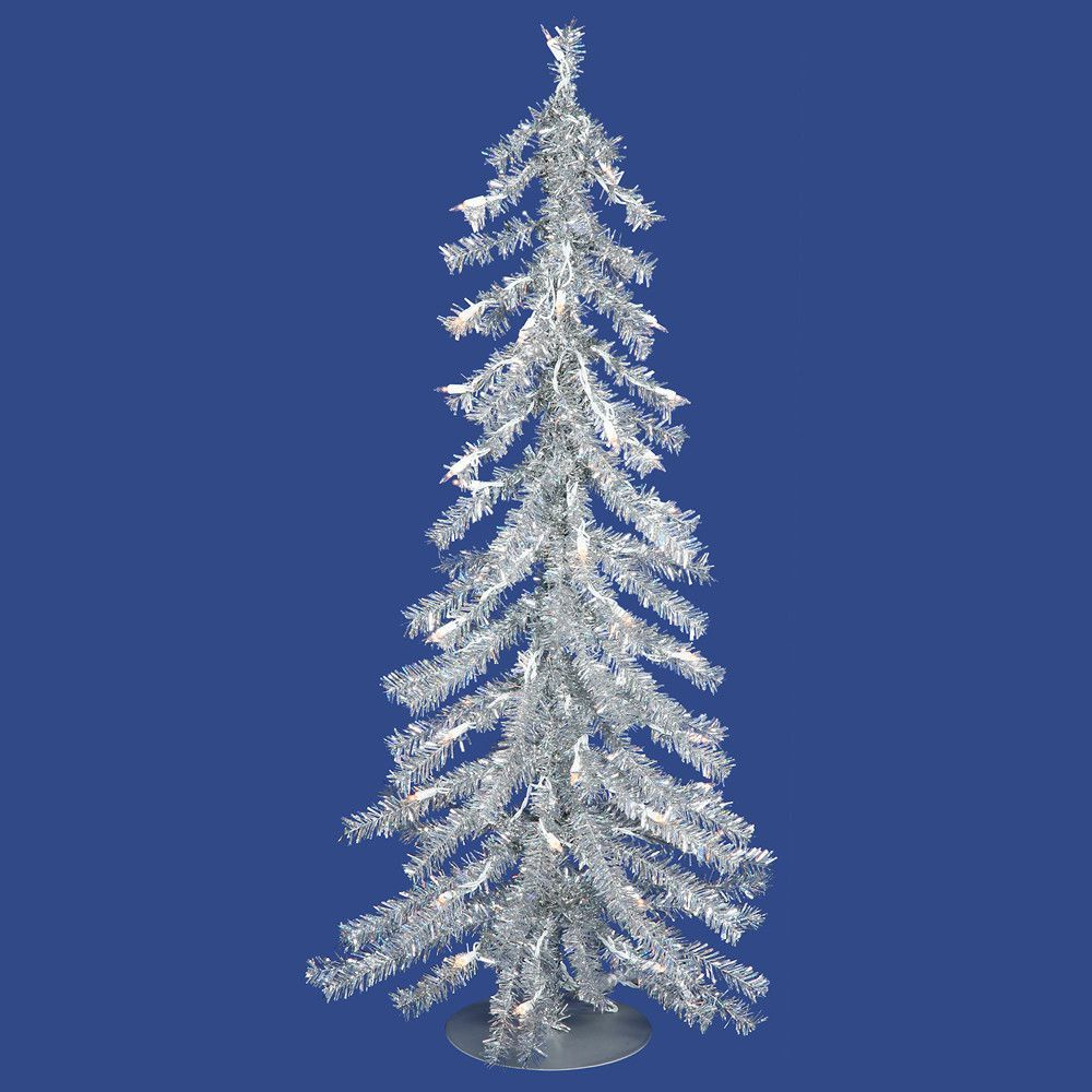 Vickerman 3Ft. Silver 232 Tips Christmas Tree 70 Clear Mini Lights