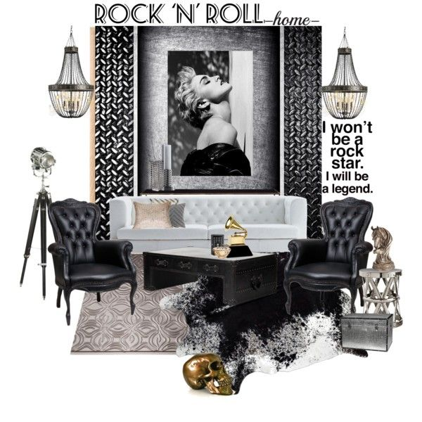 Rock N Roll Set Madonna By Szaboesz On Polyvore Featuring Interior Interiors