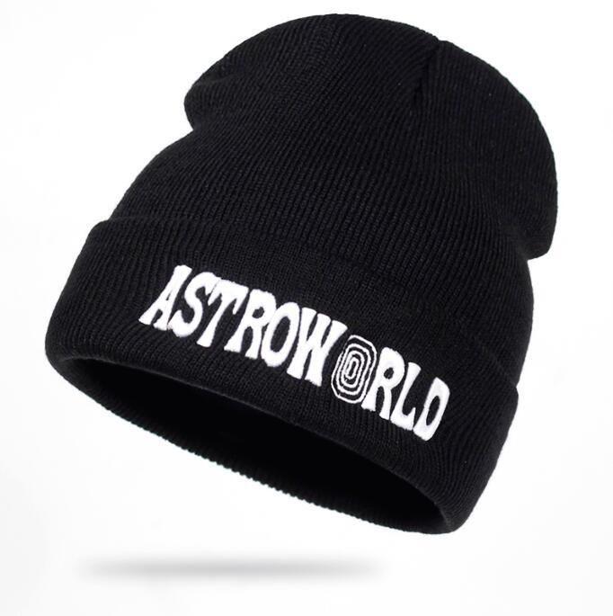01096a86061 Travi  Scott Knitted Hat ASTROWORLD Beanie 3D Embroidery Astroworld Ski  Warm Winter Unisex Travis Scott