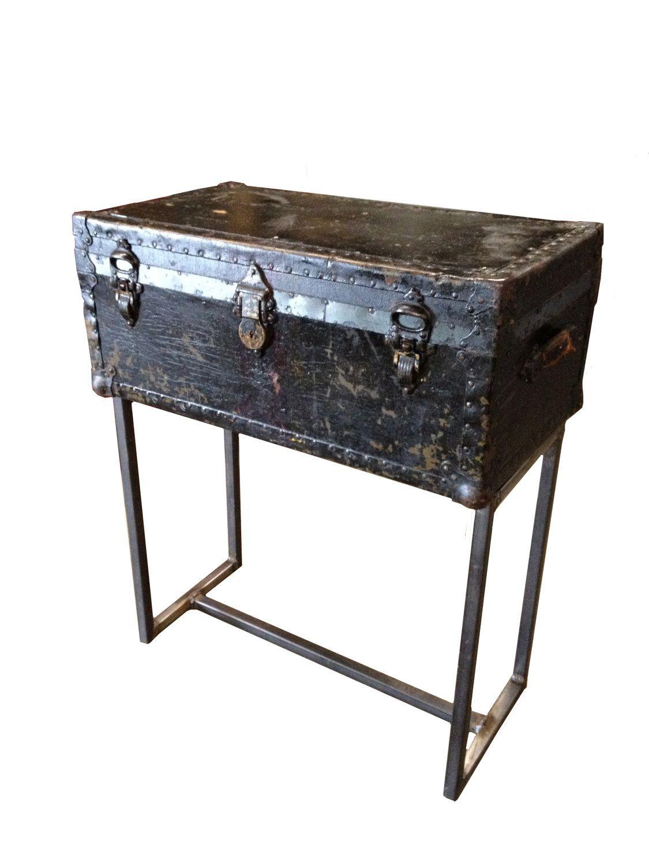 Custom Steamer Trunk Console Table. $385.00, Via Etsy.