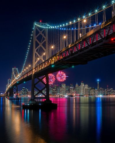 happy new year san francisco california san francisco and bridge