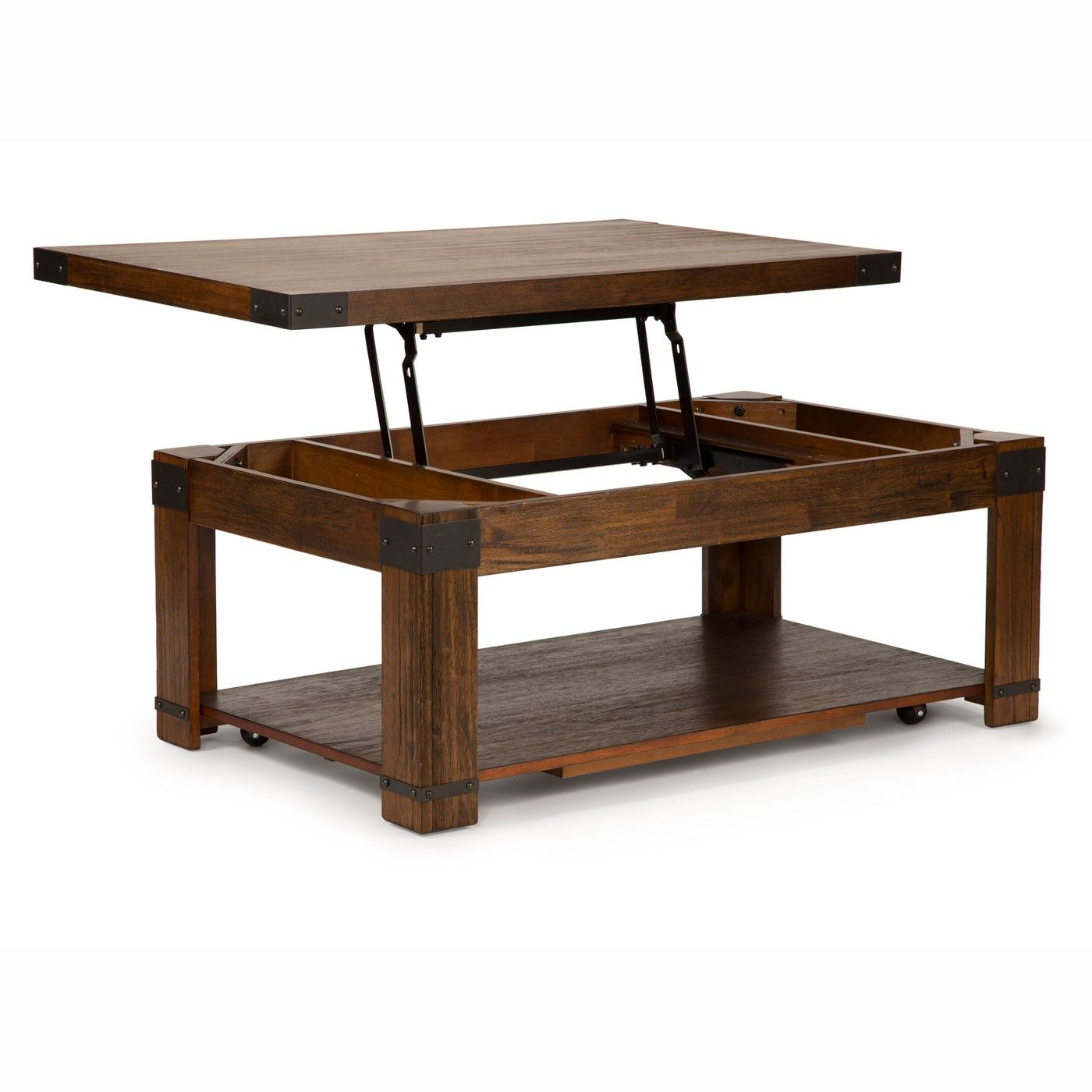 Arusha Lift Top Cocktail Table With Casters Medium Cherry Steve Silver Coffee Table Lift Top Coffee Table Coffee Table Rectangle [ 1400 x 1400 Pixel ]