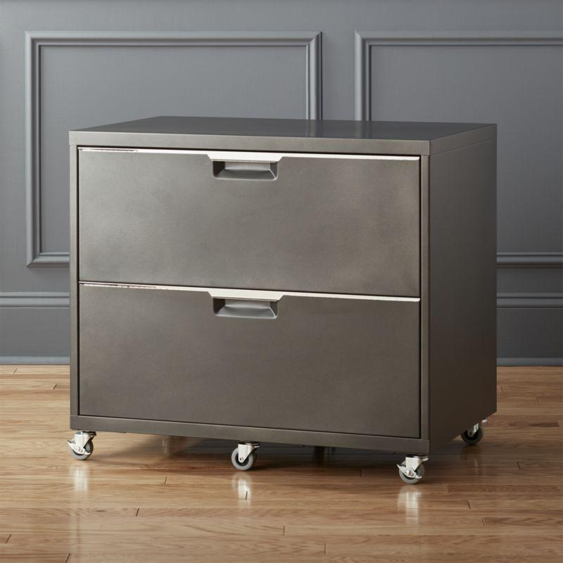 Shop Tps Carbon Wide Filing Cabinet File Under Industrial Mechanic Shop Chic Powdercoated Carbo Filing Cabinet Office Furniture Modern Modern File Cabinet