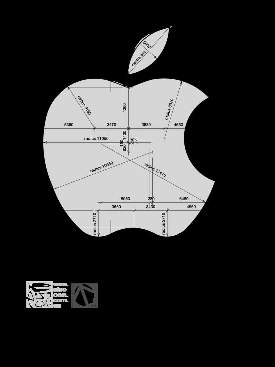 Apple Logo Explanation . Graphic Design . Logo Construction ...