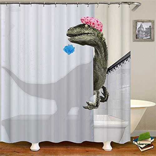 Occigant Children Dinosaur Shower Curtain Kids Shower Curtain