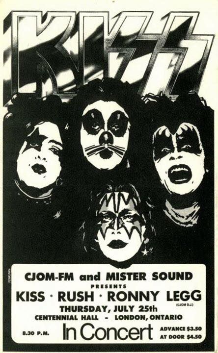 July 25 1974 Centennial Hall London Ontario Canada With