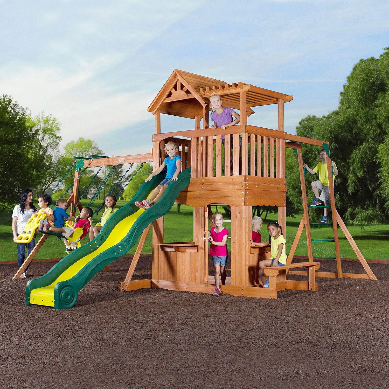 Thunder Ridge Cedar Swing Set Play Set Sam S Club Outdoor