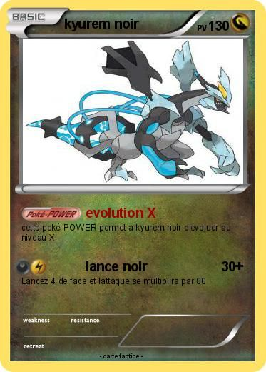 Pokemon Kyurem Noir Kyurem Noir évolution