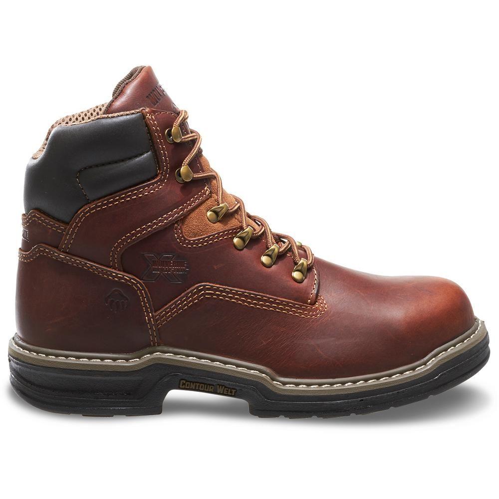 Wolverine Men S Raider Waterproof 6 Work Boots Steel Toe Brown Size 9 W W02419 09 0ew The Home Depot In 2021 Work Boots Wolverine Work Boots Steel Toe Work Boots