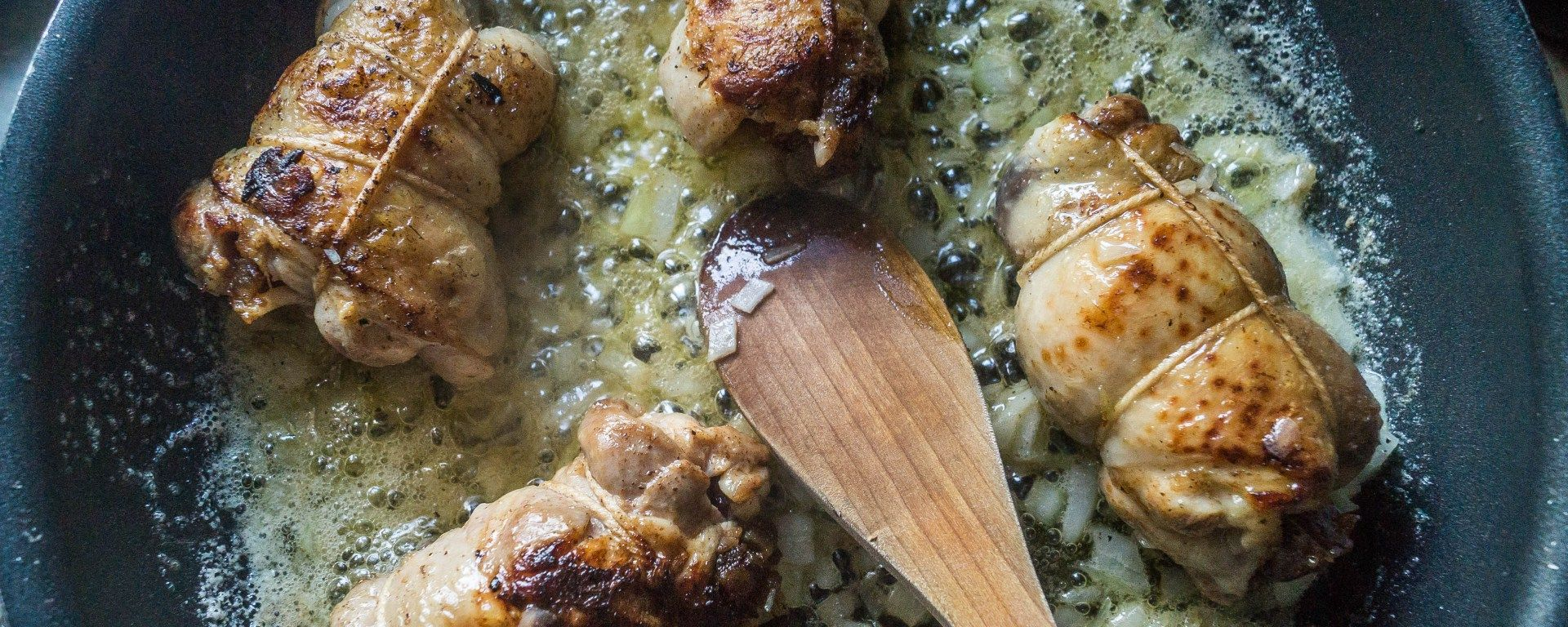 Chicken Stuffed with Dates and Bourbon