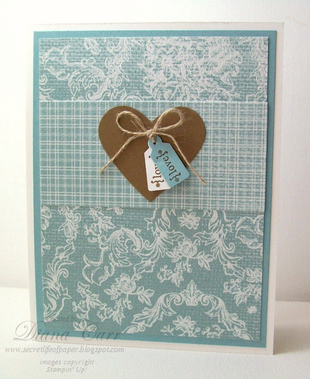 "Perfect For Anniversary Cards And: Elegant Handmade Valentine's Day Card -""Love"""