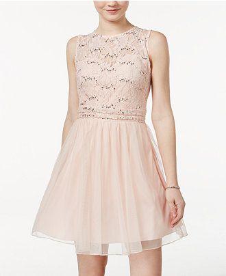 99ec8fbb9e Speechless Juniors  Sequin Lace Dress - Juniors Shop All Prom Dresses -  Macy s