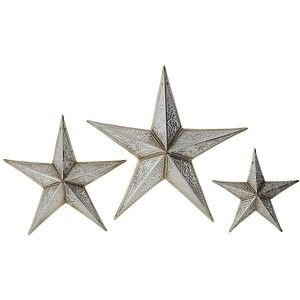star wall decorations images | shop home home decor wall art silver tin stars  wall decor