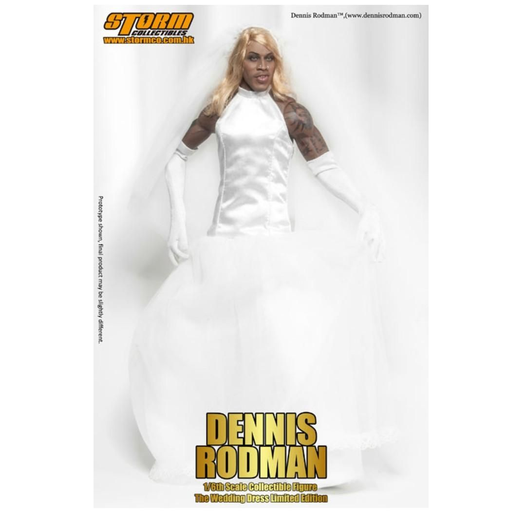 Dennis Rodman Wedding Gown Fit And Flare Cash Only 1 6th Scale Collectible Figure I 039 In 2020 Wedding Gowns Dennis Rodman Gowns