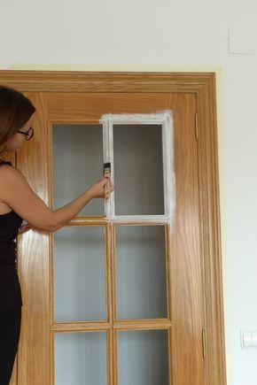 Pintar las puertas de tu hogar con chalk paint t cnicas - Pintar puertas blancas ...