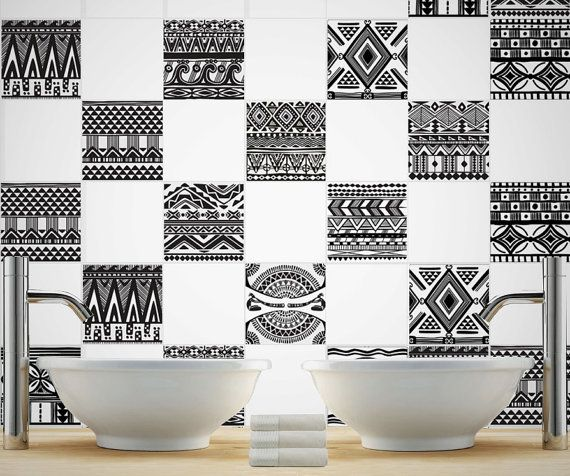 Aztec Tiles Stickers Tiles Decals Tiles For Kitchen Backsplash