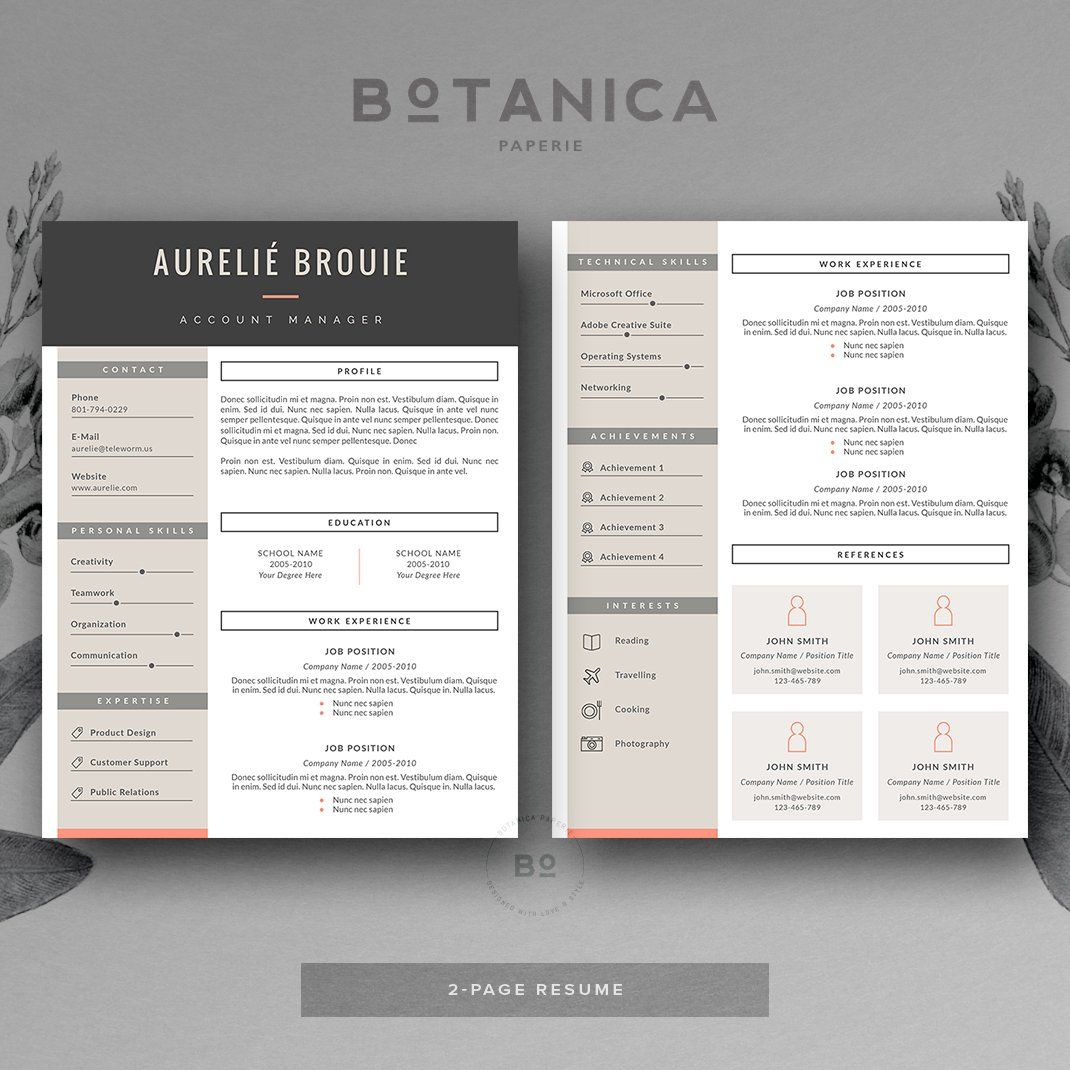 Cv template for ms word resume templates cv template