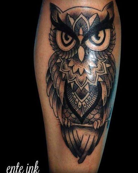 Tattoo Buho Pierna Buscar Con Google Diseno De Tatuaje De Buho Tatuajes Disenos De Unas
