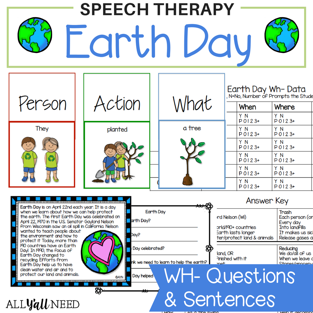 Earth Day For Speech Amp Language Therapy