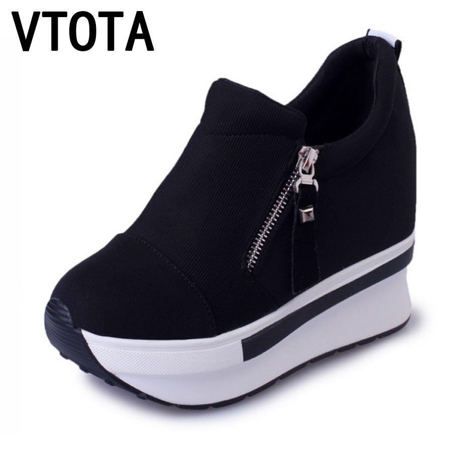 Pas Occasionnels Chaussures Haute Plate Cher Vtota Forme Mode Femmes RTtRrwq