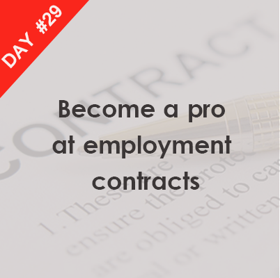 Day  Brush Up On Your Employment Contracts Knowledge