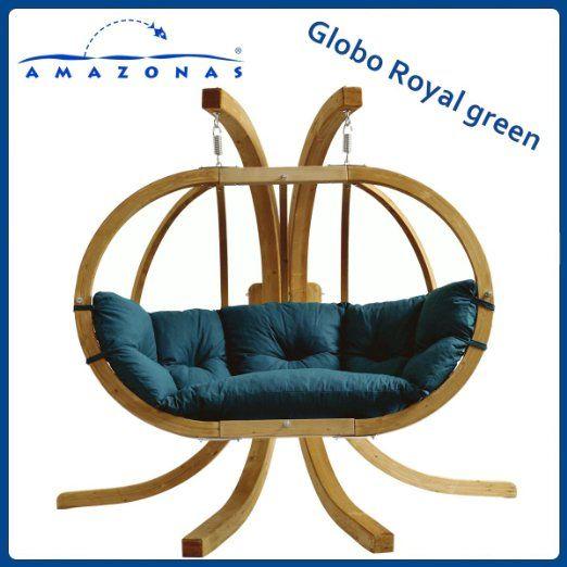 Amazonas balancelle globo royal vert avec support giardino e giardinaggio home - Altalena da giardino amazon ...