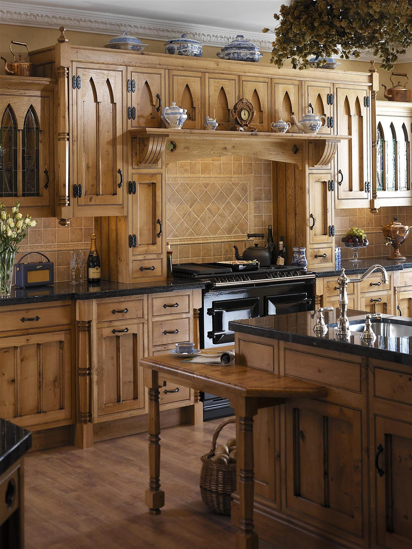 Gothic Kitchen With Wooden Cabinets Designing A Gothic Kitchen In Your House & Designing A Gothic Kitchen In Your House | Live it | Pinterest ...