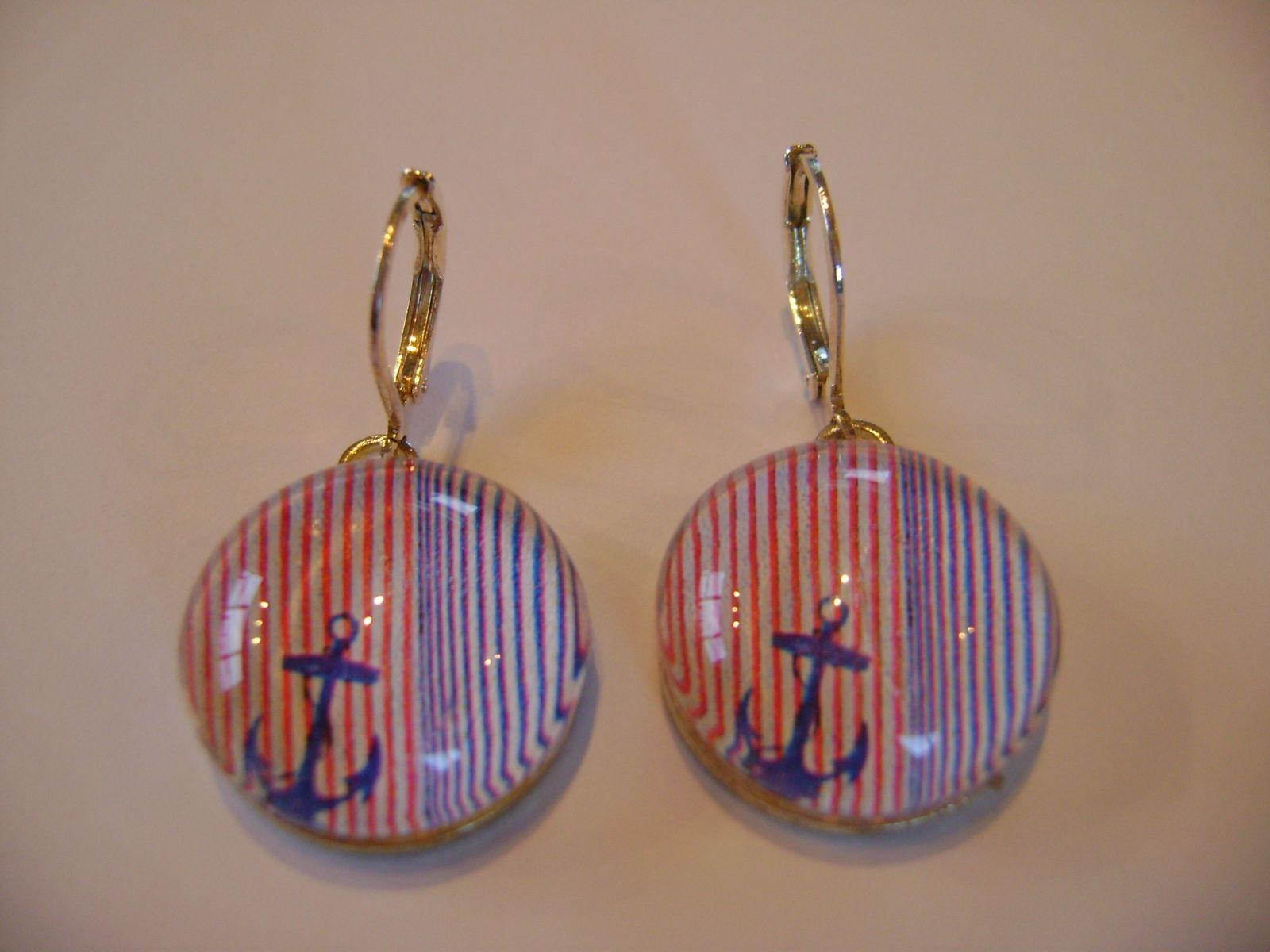 cute nautical anchor earrings