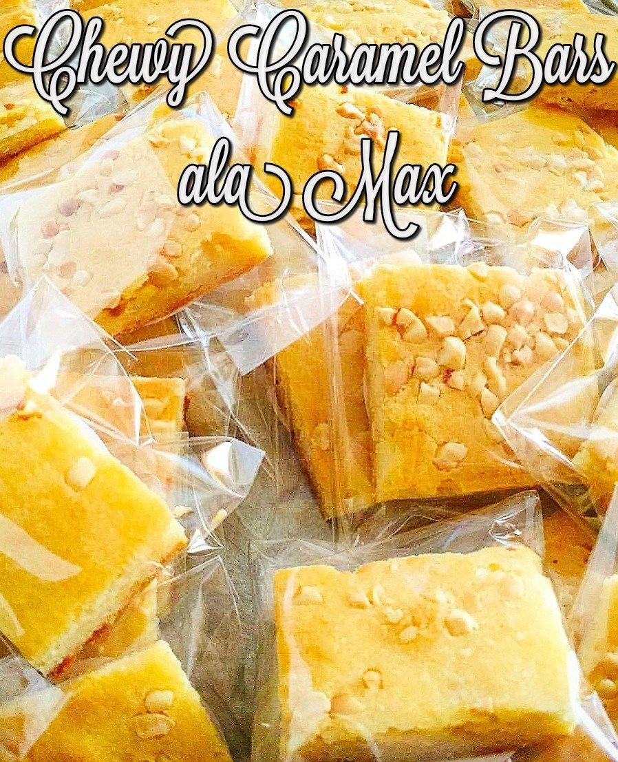 Chewy Caramel Bars Ala Max Caramel Bars Caramel Bars Recipe Bars Recipes