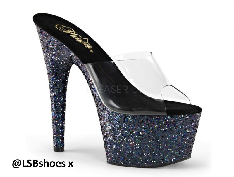 ado701ln-cb Adore Black Silver Pole Dancer Shoes - gorgeous exotic ...
