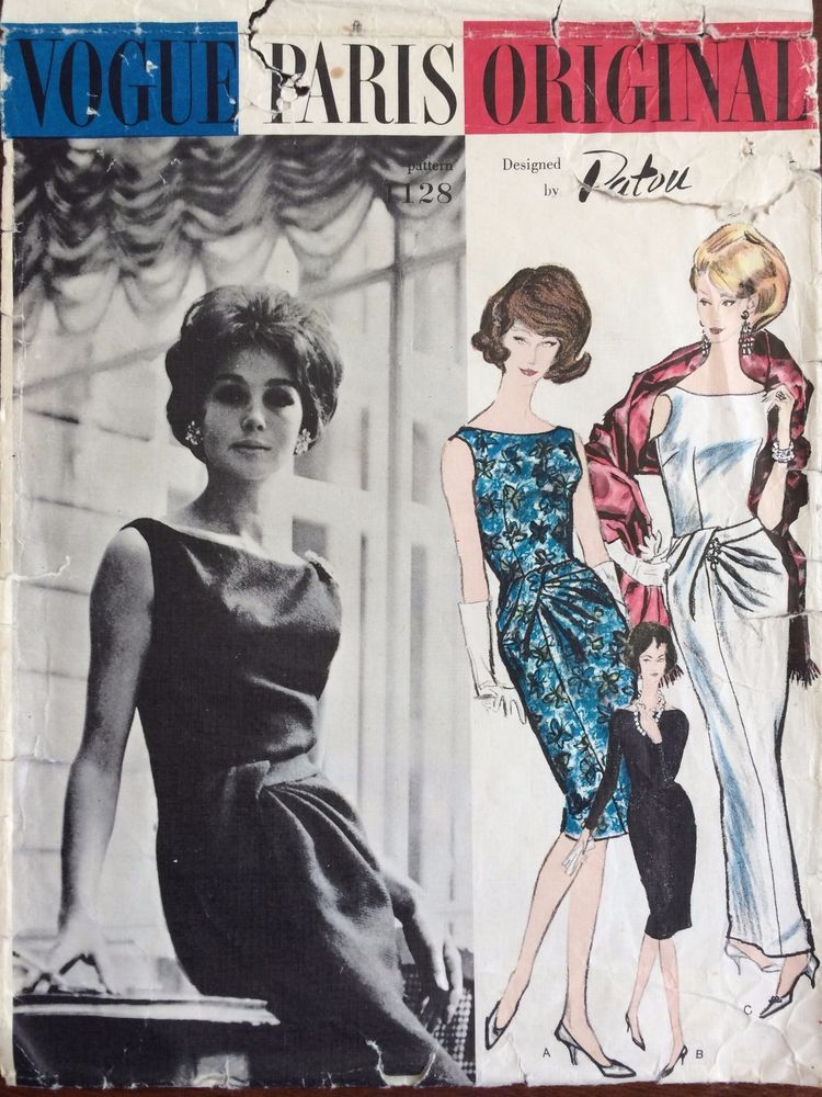 1960\'s Vogue Sewing Pattern # 1128 Paris Original Patou Dress and ...