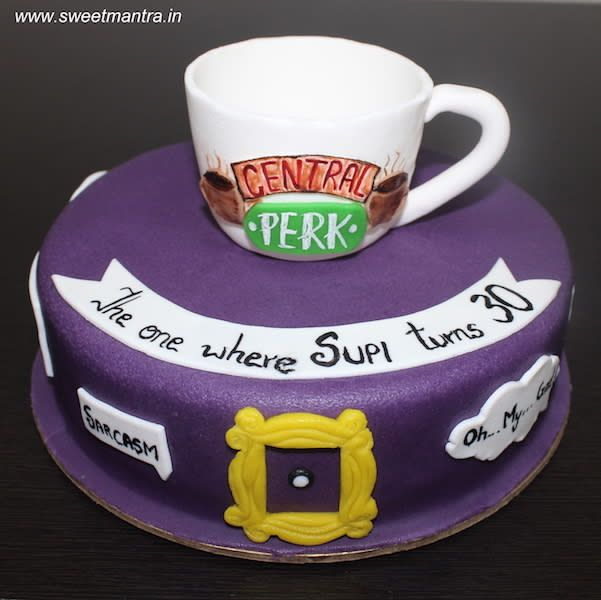 FRIENDS tv show theme customized cake with 3d coff