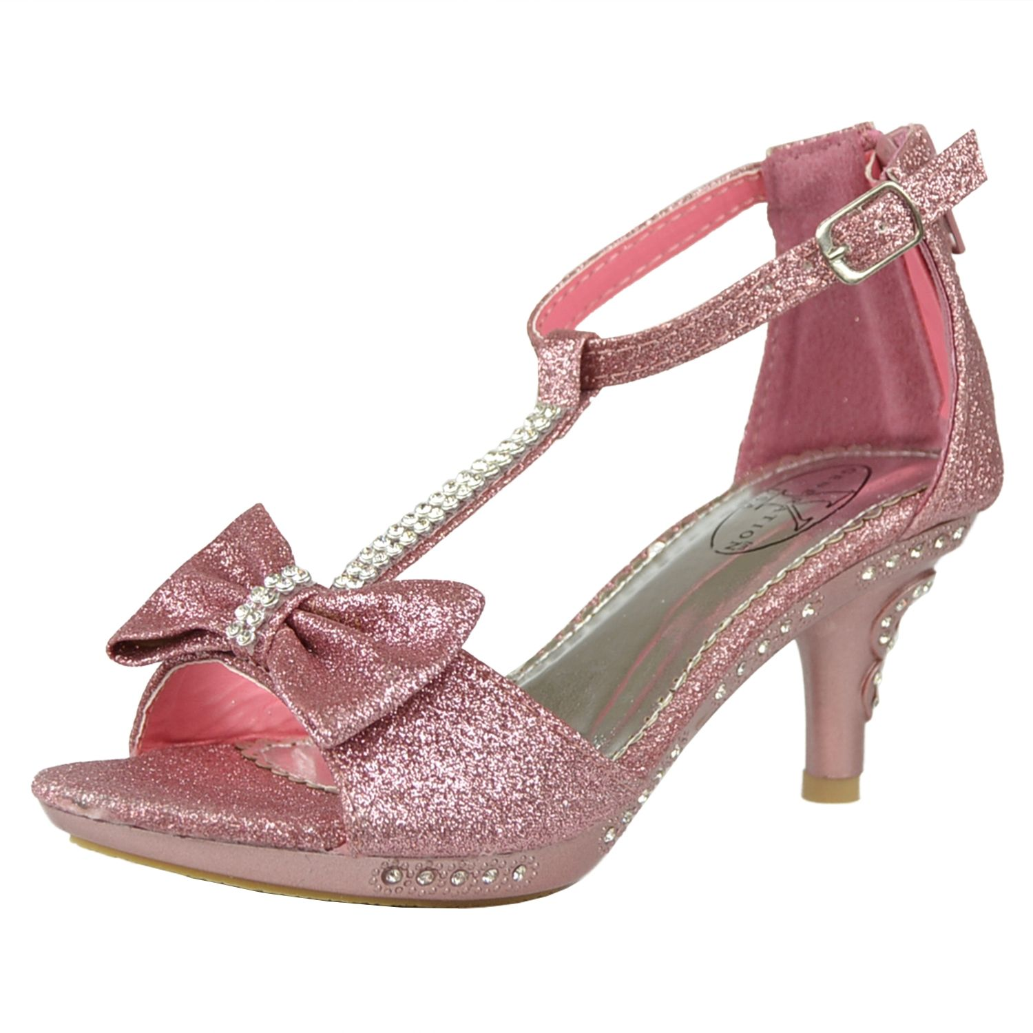 Gorgeous Rose Gold Platform Wedding Evening Prom Shoes High Heel ...