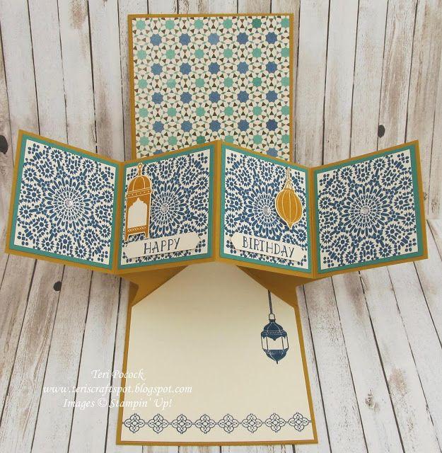 Stampin' Up! UK Demonstrator - Teri Pocock: Moroccan Nights - Pop-Up Panel Card