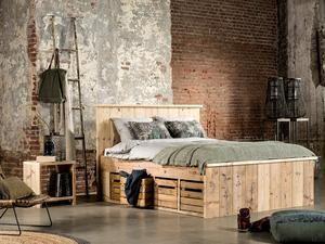 Vinyl Steigerhout Look : Steigerhout bed met fruitkistjes slaapkamer pinterest