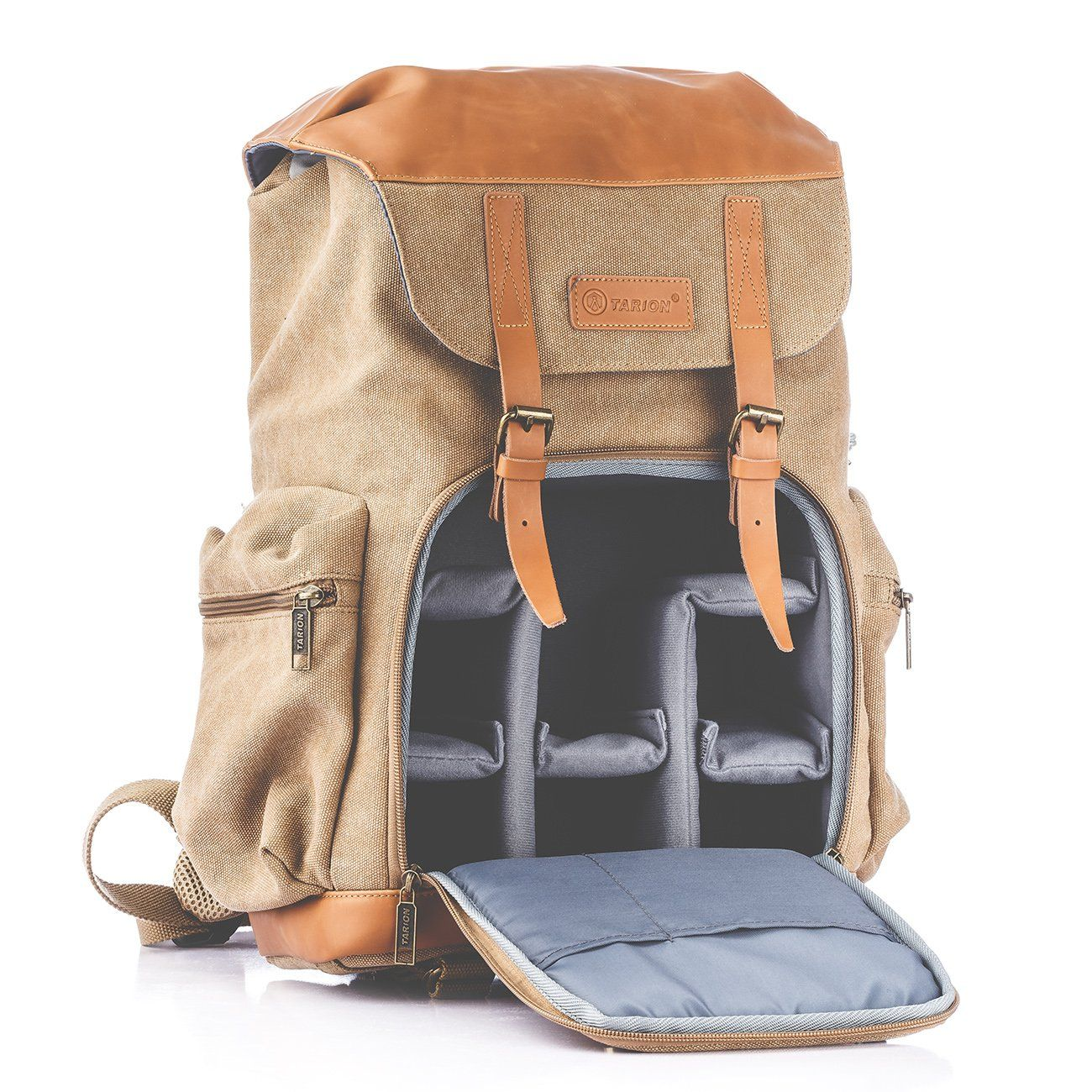 Tarion M02 Waterrepellent Canvas Backpack Photography Bag Camera